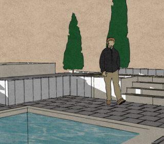 3D-Skizze Garten mit Naturpool