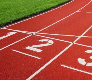 Finnenlaufbahn auf Sportanlage