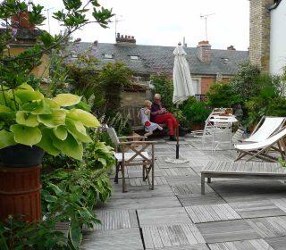 Dachgarten in der Stadt