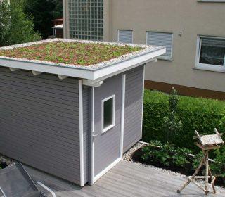 Dachgebrünung Gartenhaus