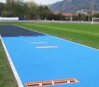 Kunststoffbahn auf Sportanlage