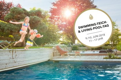 Swimming-Teich- und Living-Pool-Tag