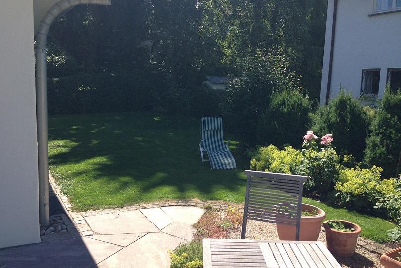 Garten vor der Umgestaltung